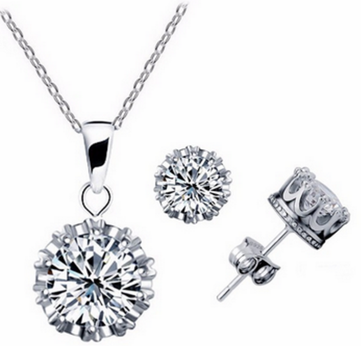 Top Quality Crystal 6 Angle Jewelry Set