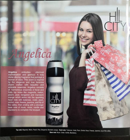 Hill City Angelica Perfumed deodorant body spray for Women - 200ml