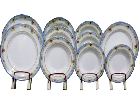 S.H Crockery Melamine Dinner Set for 8 persons White with Multi flowers Design