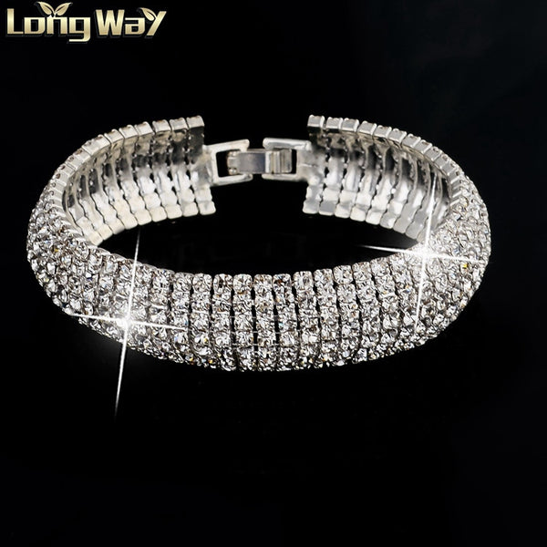 Wedding Bracelet & Bangle Vintage Crystal Gold