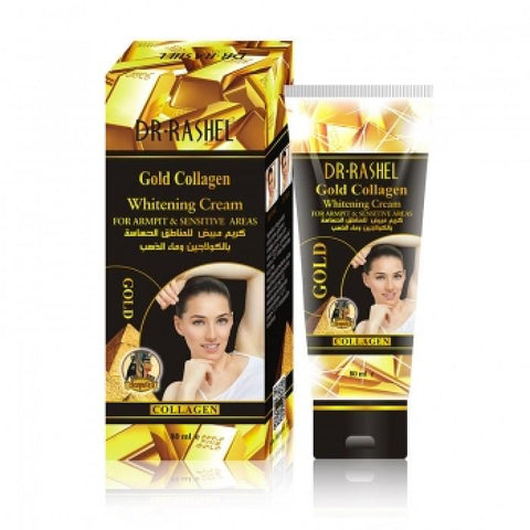 Dr. Rashel Gold Collagen Whitening Cream for Underarms & Sensitive Areas for Body, 80 ml