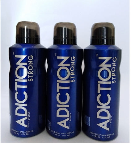 Adiction Strong the Magic of Sydney, Deodorant Perfume, 150ml (Set of 3)