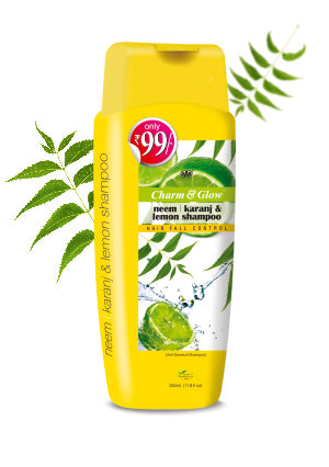 Charm and Glow Neem, Karanj & Lemon Shampoo