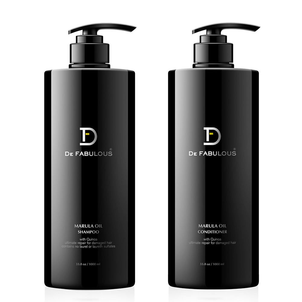 De Fabulous Marula Oil with Quinoa Shampoo, Conditioner Set | 8.5 fl oz - 33.8 fl oz |