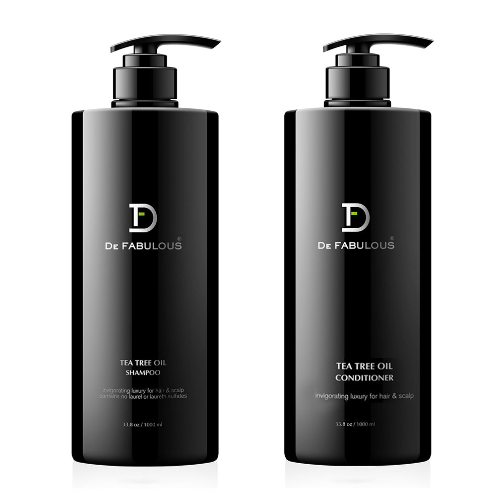 De Fabulous Tea Tree Oil Shampoo, Conditioner Set | 8.5 fl oz - 33.8 fl oz |