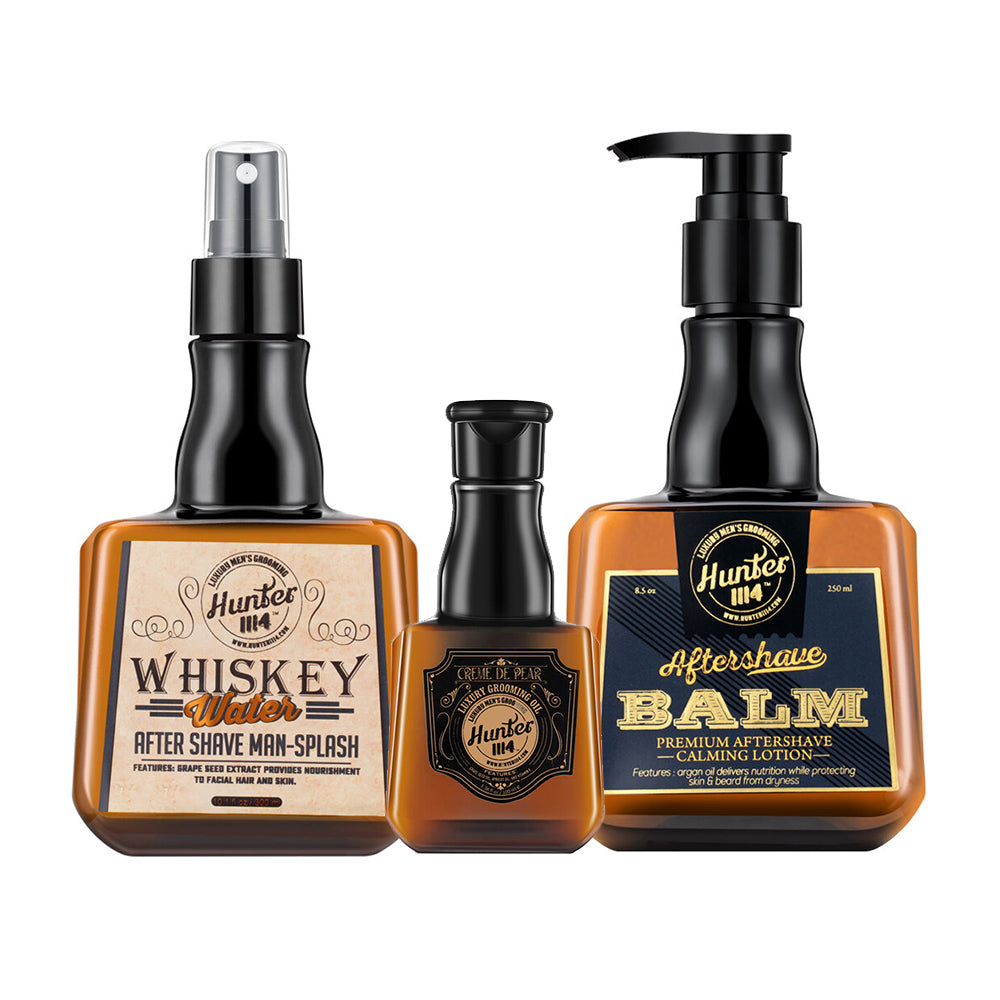 Hunter 1114 Men's Grooming | Splash - Oil - Balm  -After Shave Set