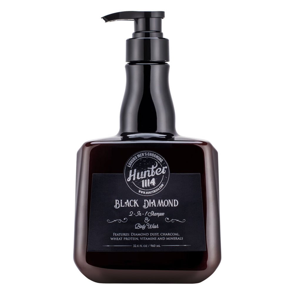 Hunter 1114 Men's Grooming | Black Diamond - 2 in 1 Shampoo and Body Wash