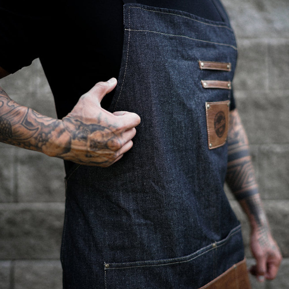 Hunter 1114 Men's Grooming | Barber Denim Apron