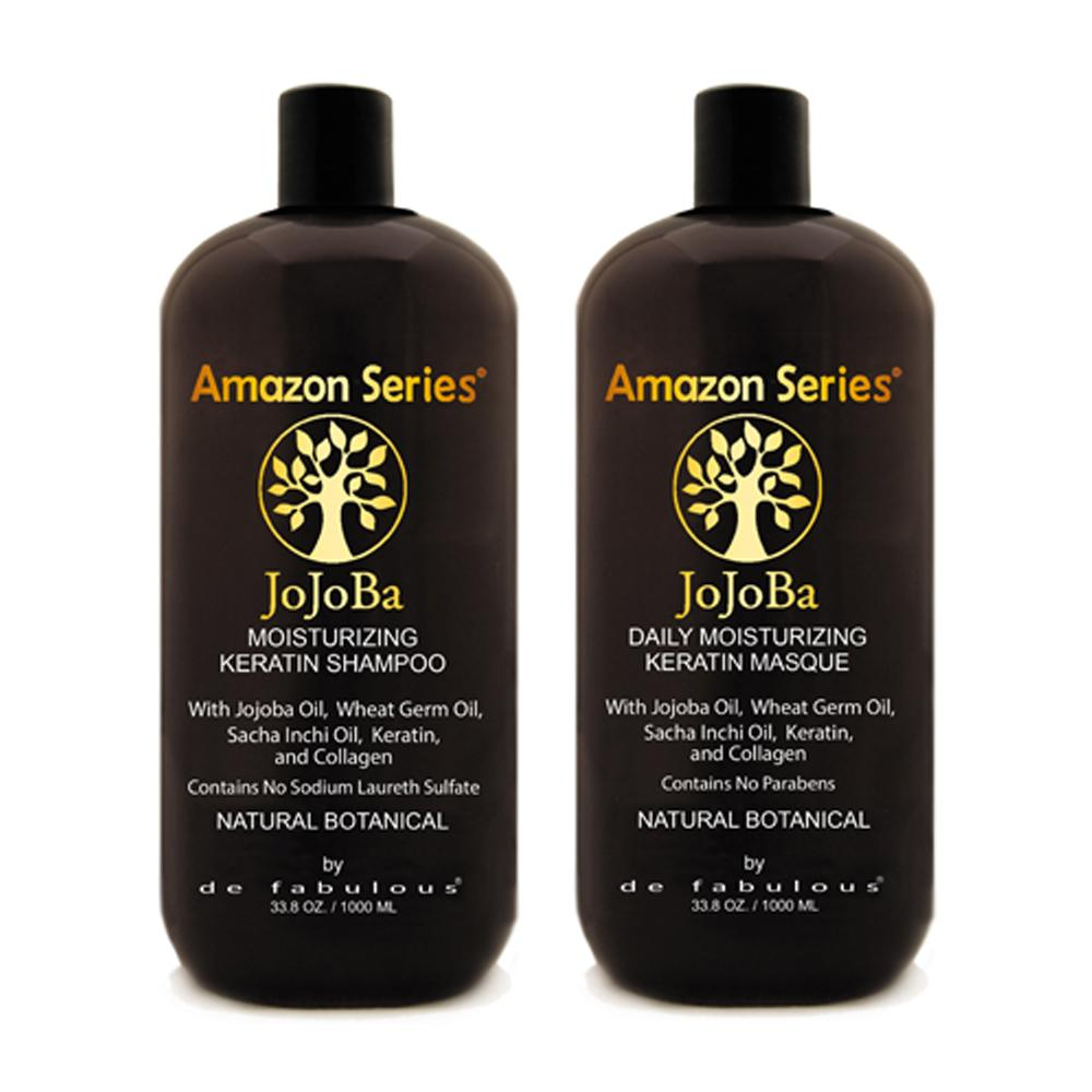Amazon Series Jojoba Moisturizing Keratin Shampoo & Masque Set | 8.5 fl oz - 33.8 fl oz |