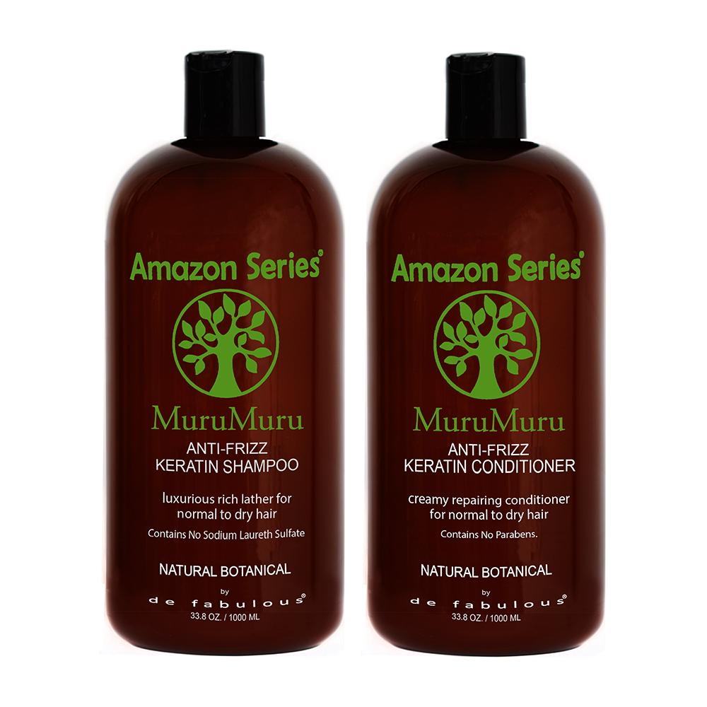 Amazon Series MuruMuru Anti-Frizz Keratin Shampoo & Conditioner Set-Keeping Lusty