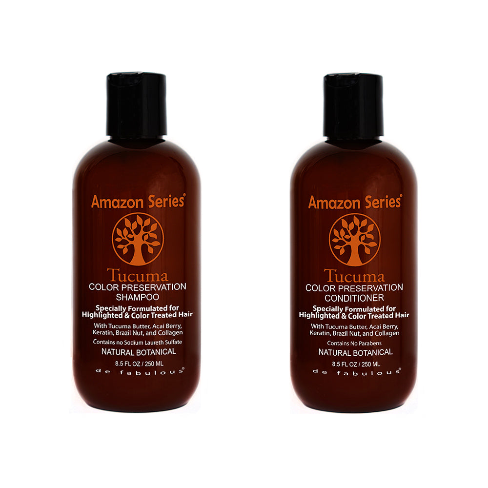 Amazon Series Tucuma Color Preservation Shampoo & Conditioner Set-Keeping Lusty