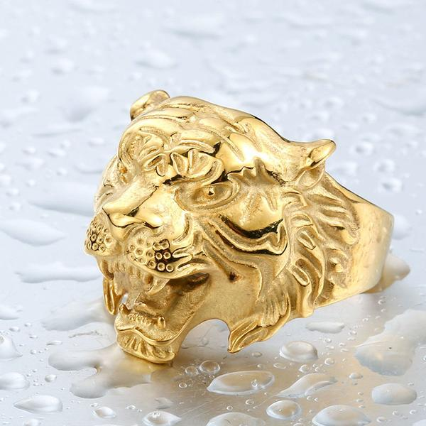 jewelry tiger yellow gold ring mens synthetic karat rings eye