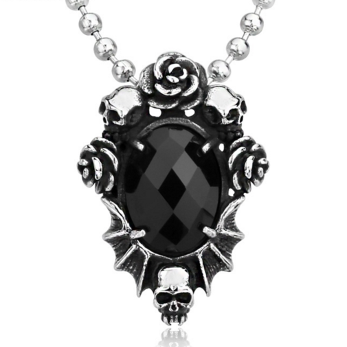 Gothic pendant proud n loud gothic goth jewellery jewelry skull necklace pendant aloadofball Gallery