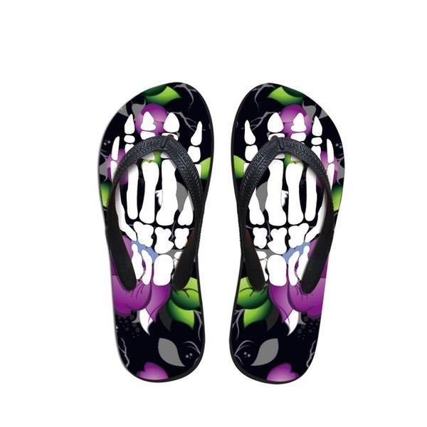 Trendy Skeleton Flip Flops