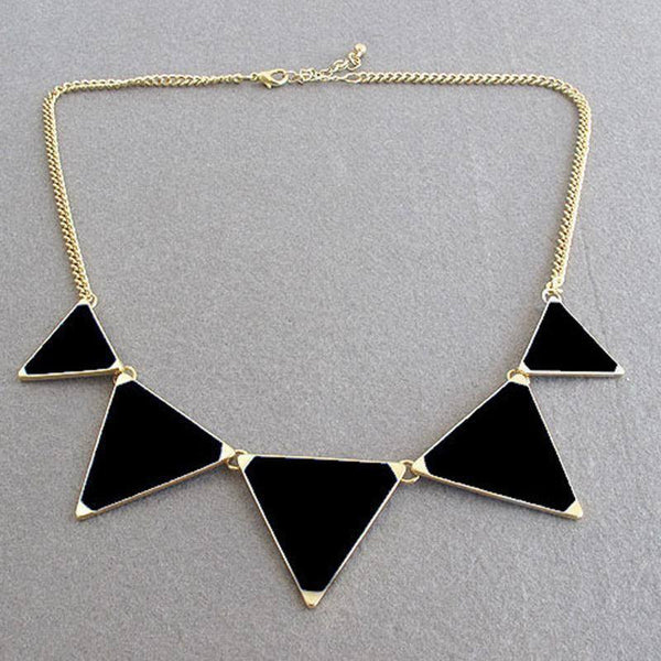 Geo-triangle Necklace  -  necklace - Skull Sector