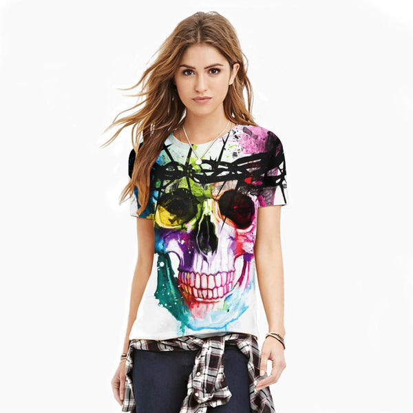 Artistical Beauty  -  womens tshirt - Skull Sector