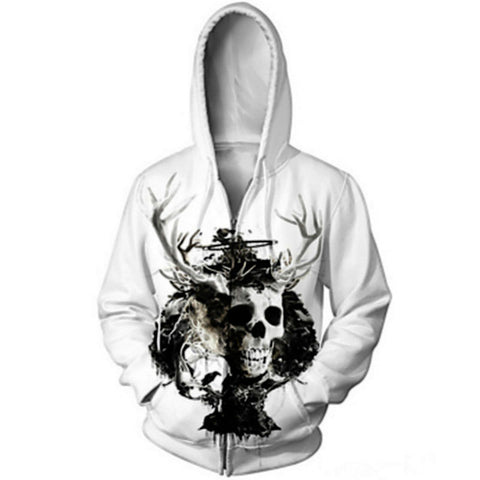 Skulls Men White Hoodies