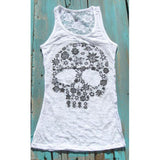 Floral Section Tank Top