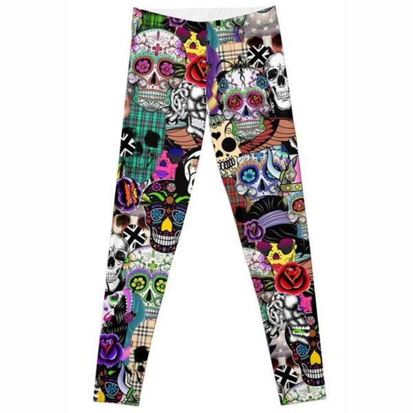 Skull Gothic Leggings