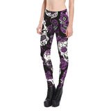 Skull Purple Gothic Leggings