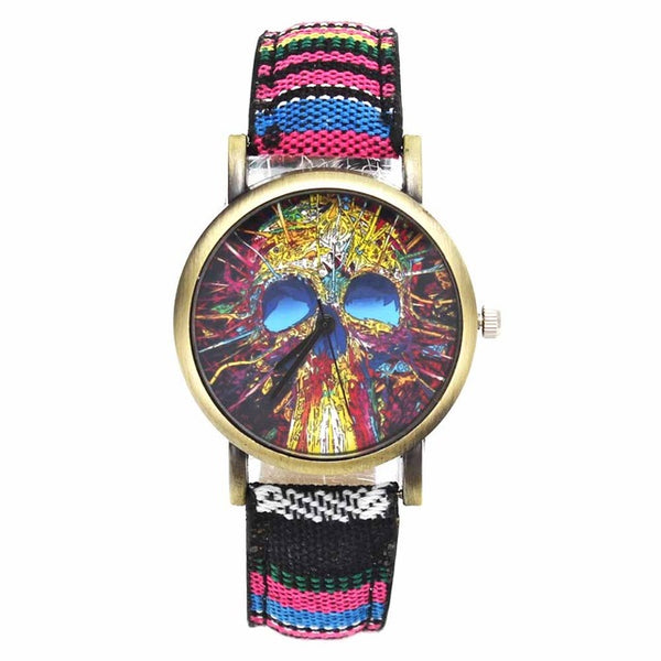 Skull Head Devil Flower Watches