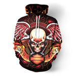 Skull Biker To The Bone Hoodies