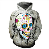Skull Creative Hooded Sweatshirt