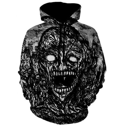 Skull 3D Men Hoodies