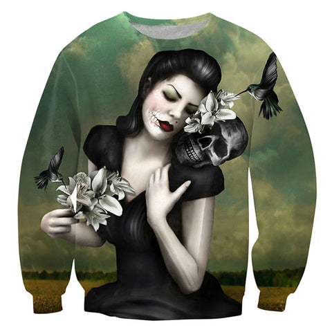 Skull Retro Sweatshirt