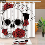 Skull Sector Shower Curtains Set