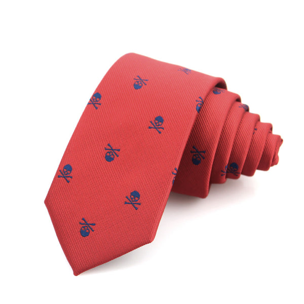 Slim Skull Neckties