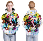 Skull Colorful Butterfly Hoodies