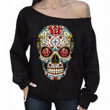 Dark Skull Rose Sweatshirts
