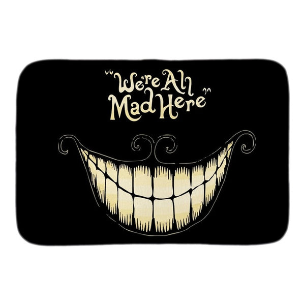 Gothic We're All Mad Here Doormat