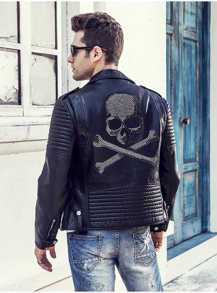 Skull Traveler Leather Jacket