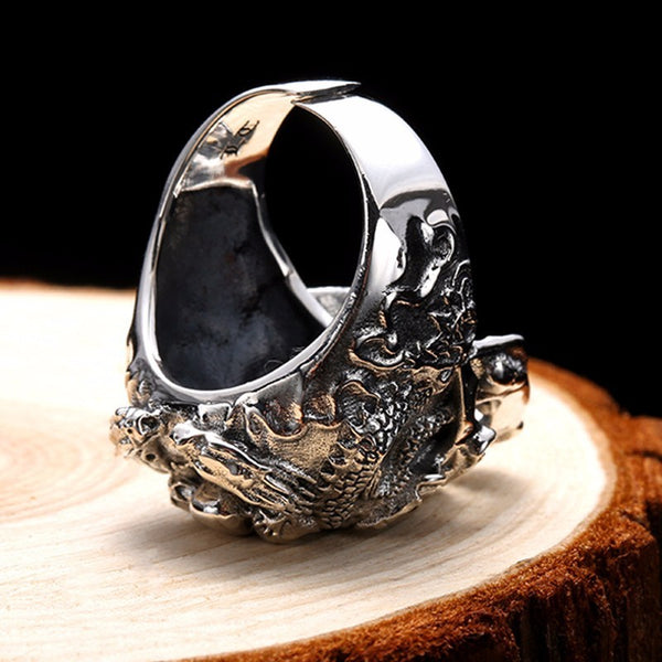 Skull Punk Dragon Ring
