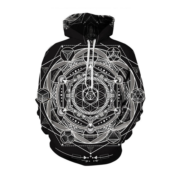 Abstract Ghost Hoodie