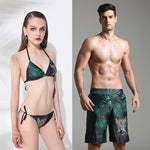 Green Leaf Couple  Beachwear
