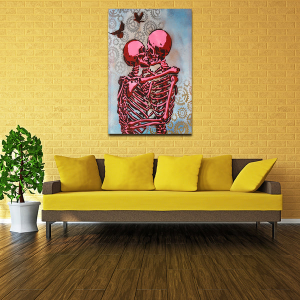 Skull Kiss Tapestry Decal