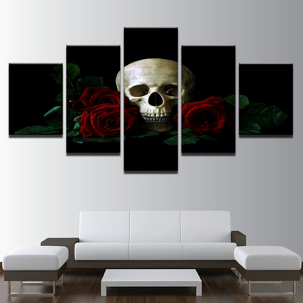 The Skull Rose Painting