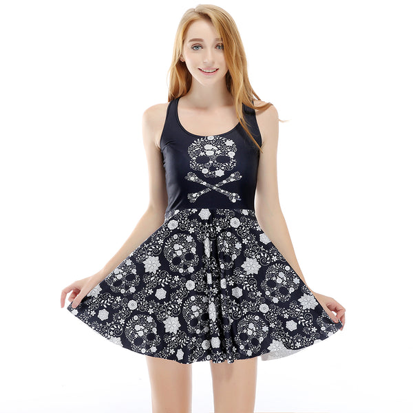 Gothic Floral  Summer Dress
