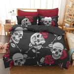 3D Floral Skull Beddings