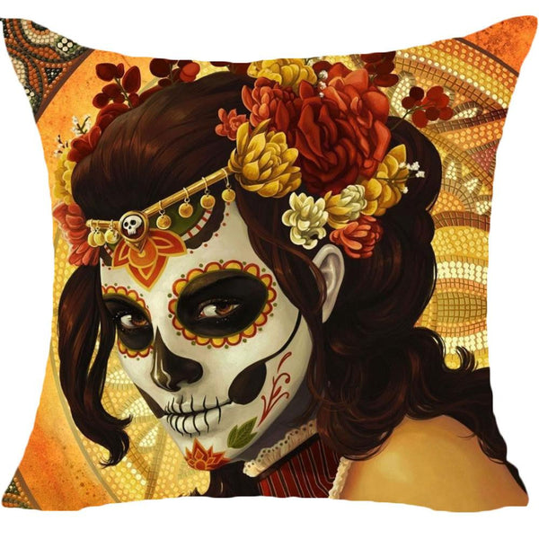 Angel Flourish Cushion Cover  -  cushion cover - Skull Sector