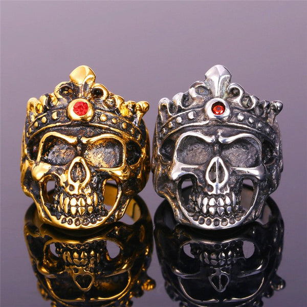 Crowned Skeleton Ring