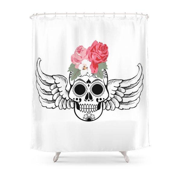 Angel Skull Shower Curtain