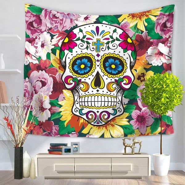 Floral Eye  Tapestry