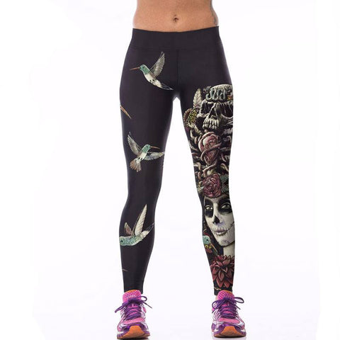 Princess Of Skull Sports Leggings
