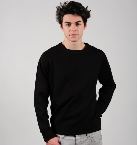 Prairie | P004U | Unisex | Men's Fairtrade Organic Sweatshirt | Black