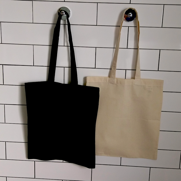 Prairie | P050TB | Tote Bag Fairtrade Organic | Black Natural Ecru