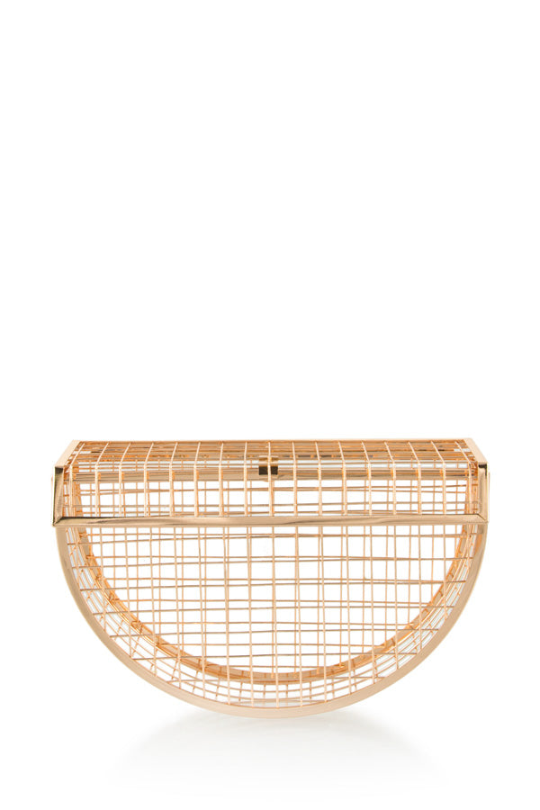 Toya Cage Moon Clutch